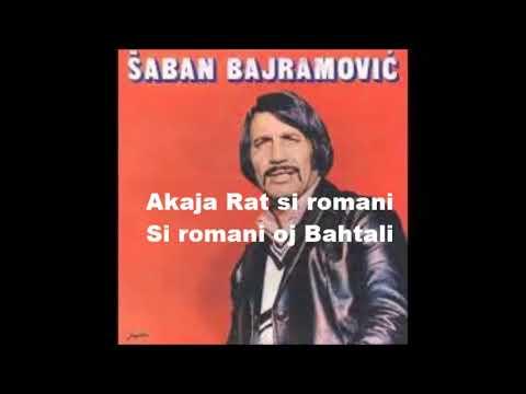 "Saban Bajramovic ""Akaja Rat"" Karaoke"