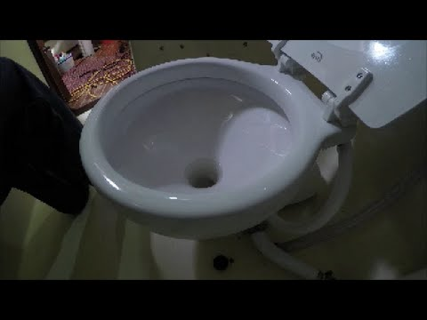 DIY Electric toilet on a sailboat.