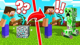 MINECRAFT But BREAK ANYTHING = MOBS SPAWN! (Dangerous)