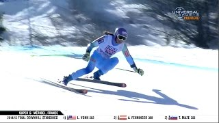 Video Tina Maze 3rd in 2015 Super G - Universal Sports download MP3, 3GP, MP4, WEBM, AVI, FLV Oktober 2018