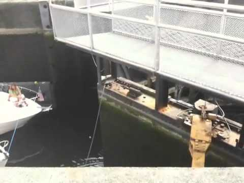 Ballard Locks: boats waiting to go into Puget Sound