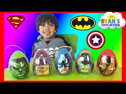 Thumbnail: Easter Eggs Surprise Opening 2016 Marvel SuperHeroes Toys Batman vs Superman Hulk Iron Man Advengers