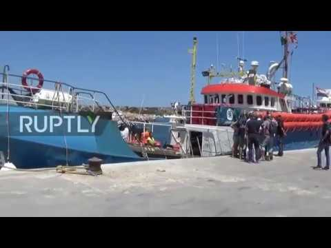 Italy: German NGO migrant rescue ship blocked in Lampedusa after refusing to sign agreement