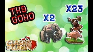 TH9 SUPER STRONG WAR STRATEGY FOR 3*-TH9 GOLEM+HOG STRATEGY-GOHO