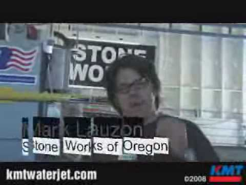 KMT Waterjet Systems; Water Jet Cutting Granite at Stone Works of Oregon