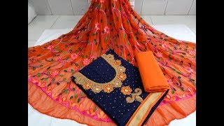 Latest Beautiful Dress Materials Collection with Price Contact Details // Trendy Salwar Suits