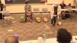 Houngan Deenps Bazile (Gran Bwa) performs Vodou Veve Ritual