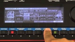 Roland Juno-Gi - Guitar Insert Effects Set Up