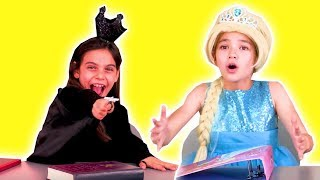 BORING LESSON MADE FUN WITH MAGIC - Back To School - Princesses In Real Life | WildBrain Kiddyzuzaa