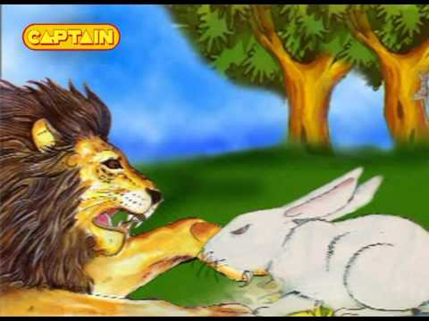 story of lion and rabbit in hindi