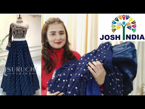 Blue Designer Lehenga / Josh India / SWATI BHAMBRA