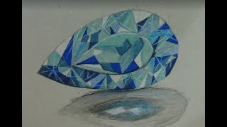 How to draw a topaz gemstone - Drawing tutorial