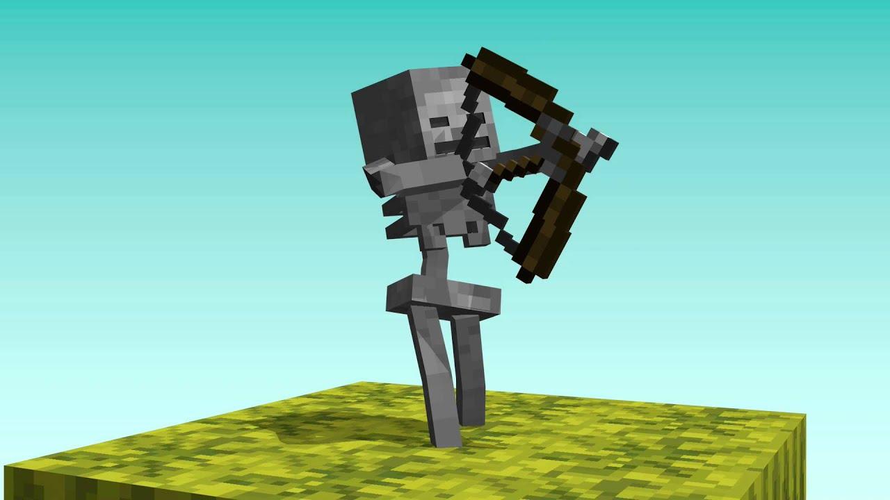 Skeleton Vs. Zombie (Minecraft Animation) - YouTube