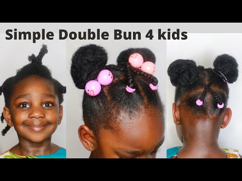 Quick Easy 10 Mins Sock Bun Hairstyle For Little Girls Kids