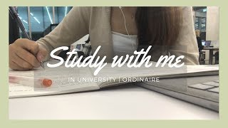 [Realtime] Study with me in class and in school (coffee house music) | 학교 공부