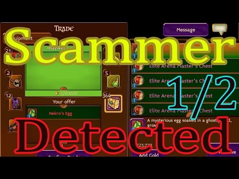 SCAMMER!!! CAUTION, CUIDADO IN TRADES (REAL SCAMMER/REPORT) - Arcane Legends