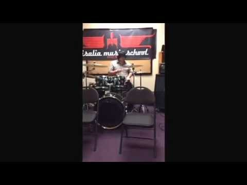 Visalia Music School Open House Video 6 Drum Solo -Chris