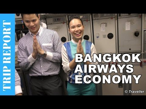BANGKOK AIRWAYS ECONOMY CLASS flight to Koh Samui - Airbus A319 Flight Review