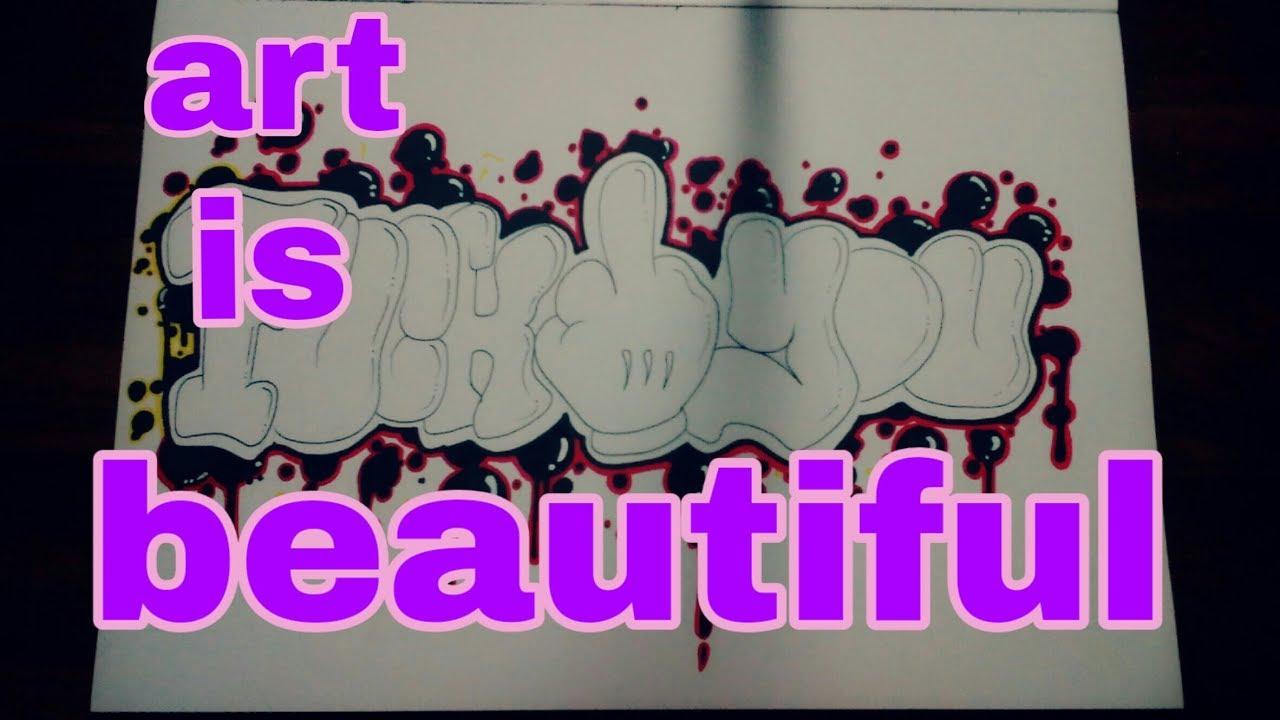Cara Gambar Grafiti Doodle  Sobgrafiti