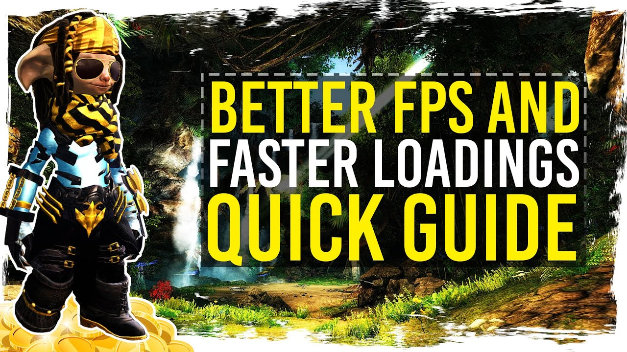 Guild Wars 2 - Quick Guide to Higher FPS and Faster Loadings / 1080p 50fps