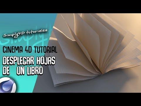 COMO SIMULAR LAS HOJAS DE UN LIBRO - UNFOLD PAPER - TUTORIAL CINEMA 4D