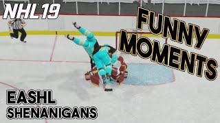 NHL 19 FUNNY MOMENTS! -- EASHL Shenanigans Episode 1