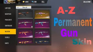 All Gun skin permanent- My collection/ garena free fire