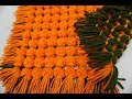 How to make double sided marigold pom pom table mat