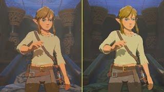 The Legend of Zelda Breath of the Wild Wii U vs Switch Gameplay Graphics Comparison