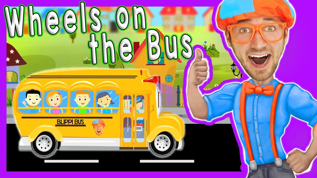 Wheels On The Bus Blippi Nursery Rhymes