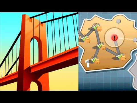 BRIDGE CONSTRUCTOR - Gameplay Walkthrough Part 1 (iPhone, iPad, iOS, Android Game)