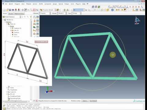 Tutorial 2. ABAQUS Cantilever Steel Beam Loaded At The Free End (Method 2)из YouTube · Длительность: 19 мин36 с