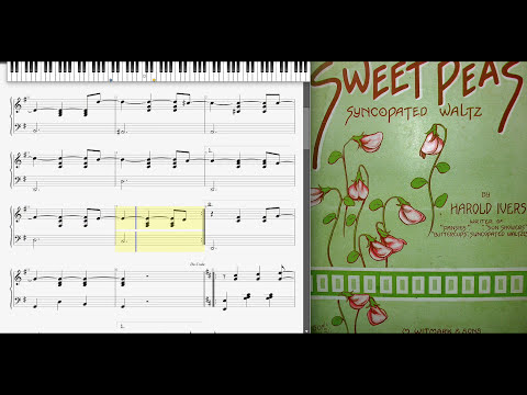 Sweet Peas by Harold Ivers (1913, Syncopated waltz)