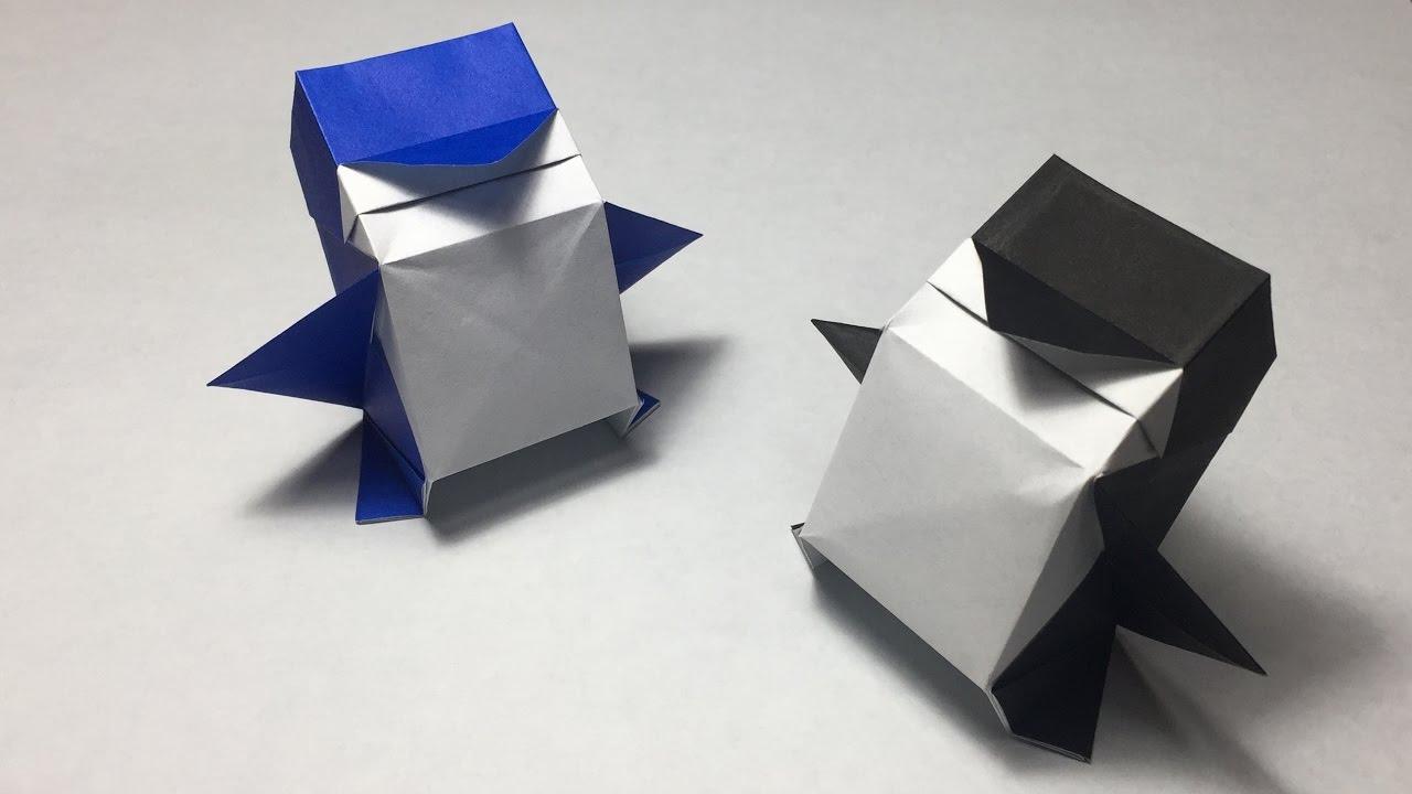 Origami Penguin 3D Tutorial