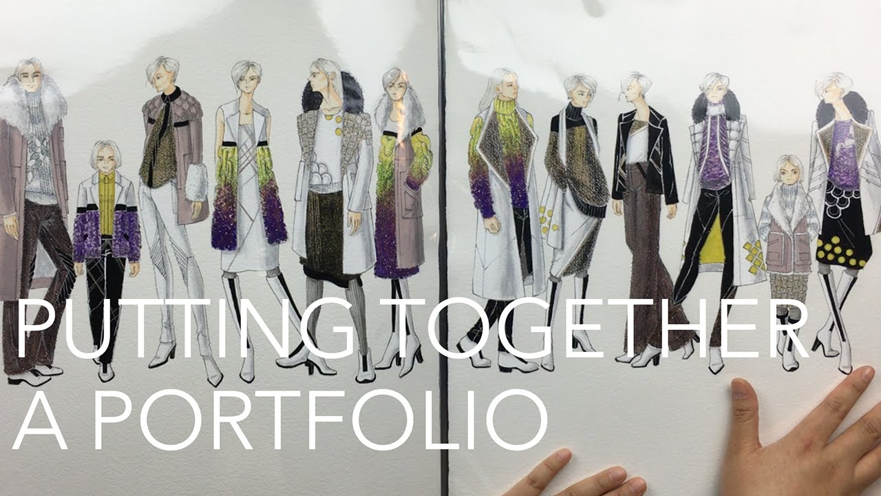 Fashion Design Tutorial 8 Portfolios Youtube