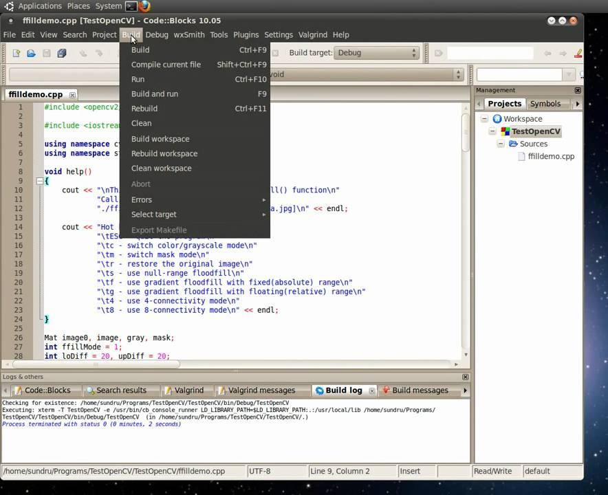 OpenCV Floodfill demo
