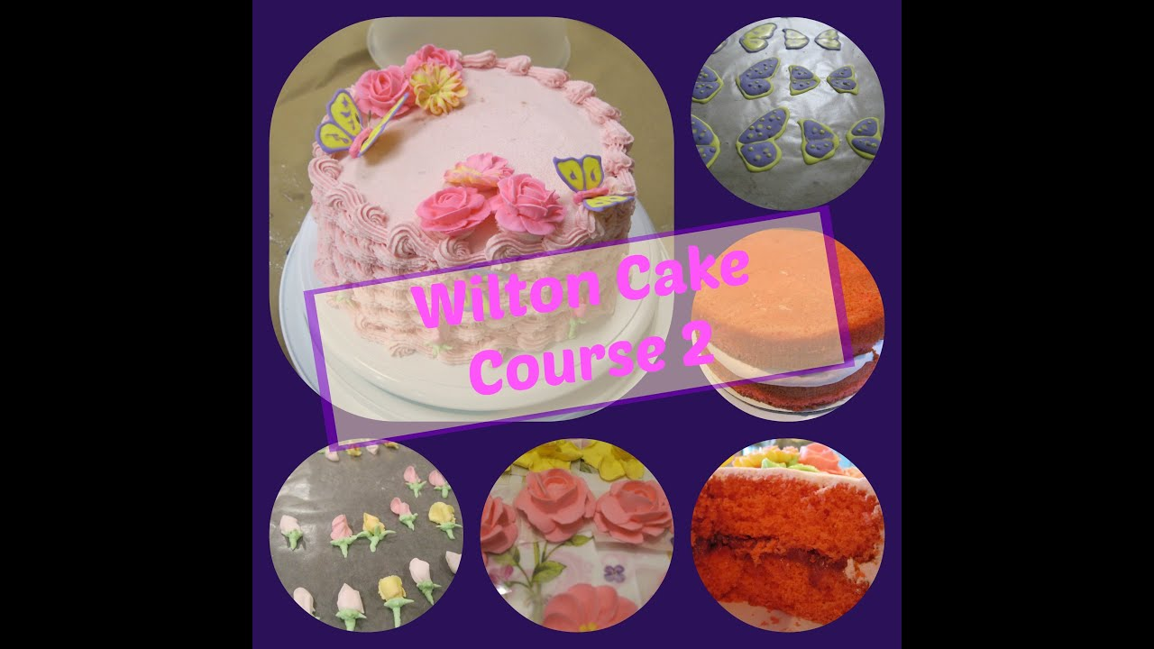 wilton cake class course 2 flowers and cake design final cake - Wilton Cake Decorating Classes