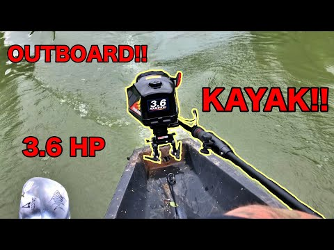 Outboard Motor on a Kayak!! (HangKai 3.6 HP on Nucanoe Front