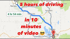 Timelapse of the drive from Boise, Idaho to Salt Lake City, Utah