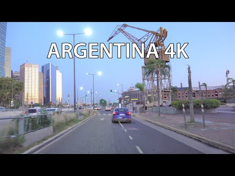 Buenos Aires 4K - Driving Downtown - Morning Drive
