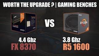 FX 8370 vs Ryzen 5 1600 | Worth the Upgrade? | Gaming Benchmarks | 720p, 1080p & 1440p