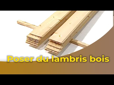 La pose d 39 un lambris bois youtube for Cloison interieur bois