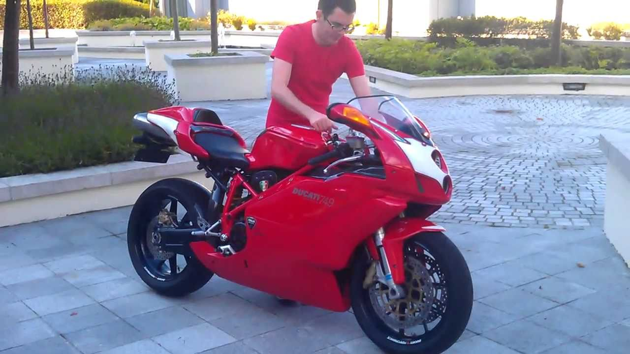 ducati 749 - dry clutch, racefit exhaust - youtube