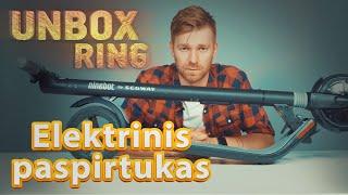 Elektrinis paspirtukas | Segway Kickscooter ES1 || Unbox Ring || Laisvės TV X