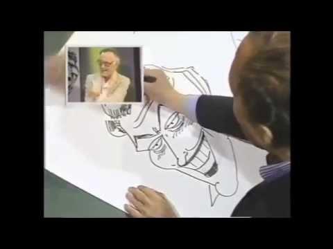 Bob Kane drawing Batman, Mickey Mouse and many more