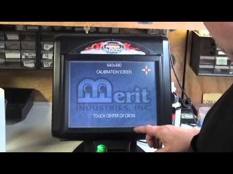 #640 Merit MEGATOUCH FORCE Touchscreen CALIBRATION TRICK! TNT Amusements