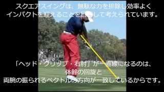 Ver2 左一軸スクエアアドレス 「腰の動かし方・腕の使い方」の考察 thumbnail
