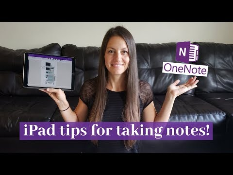 How to Take Notes on an iPad with OneNote! | Nursing & CRNA School