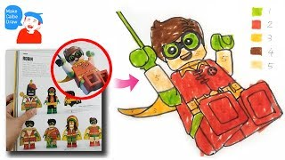 Lego Robin Drawing, Painting, Coloring for Kids, Toddlers