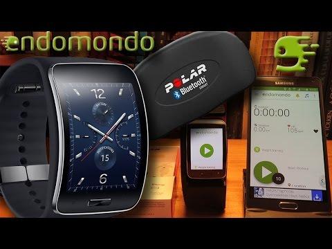 Endomondo running on Samsung Gear S and using  Polar H7  Heart Rate Sensor